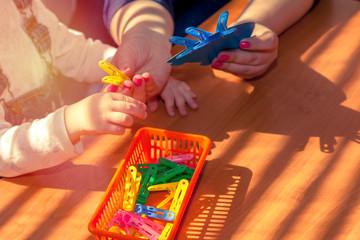 Children fingers motility, children's education and development.