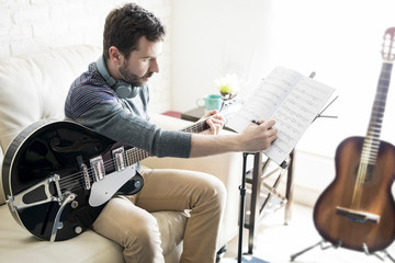 Song composer at home studio