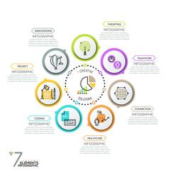 Minimalistic infographic design layout