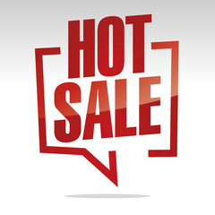 Hot sale in brackets white red isolated sticker icon