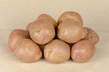 Fresh, raw potatoes