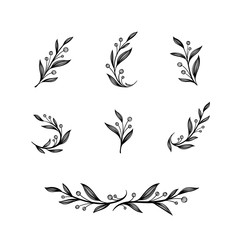 Hand drawn vector vintage element for invitations, greeting cards, quotes, blogs, wedding frames, posters