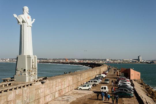 Christ the Savior in escollera sur - Mar del Plata - Argentina