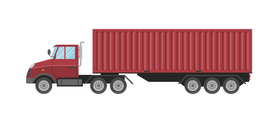 Vector illustration. Truck with a container.