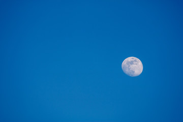 Moon seen by the day