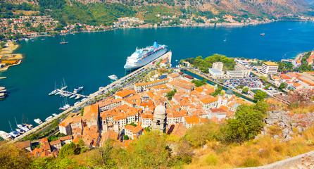 Kotor, Montenegro. Wide Angle landscape.