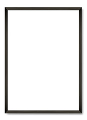 Blank black wooden frame A4. Vector template