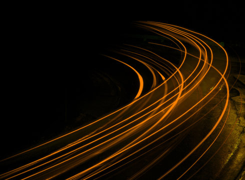 Long exposure at night orange streaks