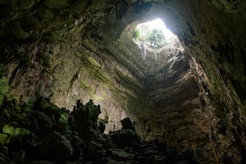 Castellana Grotte cave in apulia Italy