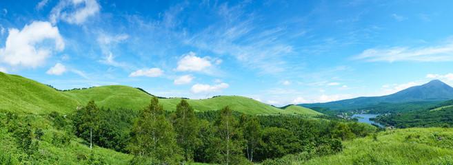 Foto auf Leinwand Gebirge 霧ヶ峰・白樺湖
