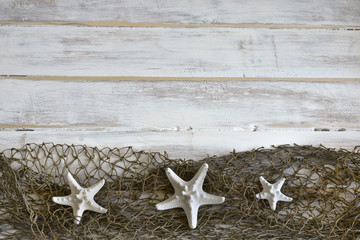 Three White Starfish