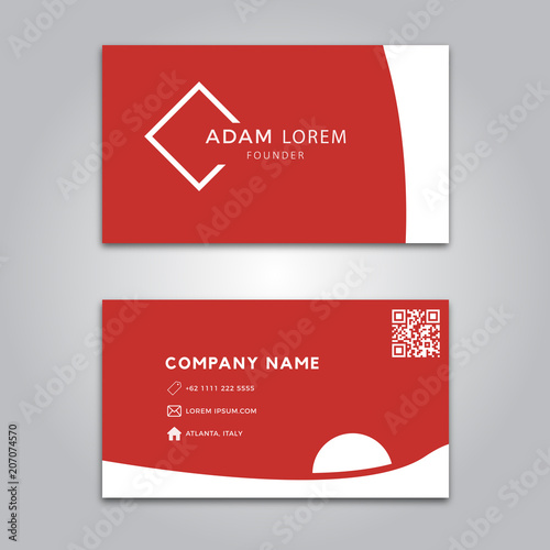 Red Business Card Template Stock Image And Royalty Free Vector