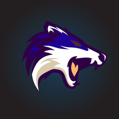 angry wolf logo team