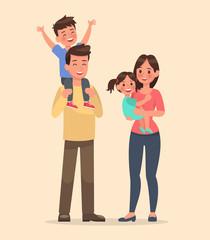 family character vector design set 10