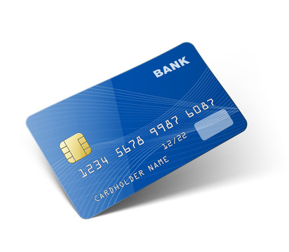 Credit card isolated on white background. Vector illustration ready to use for your design. EPS10.