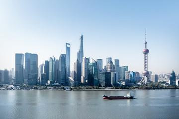 Fotobehang - modern shanghai skyline