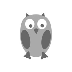 Cute owl. Isolated on white background. Vector illustration.
