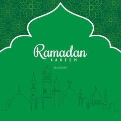Ramadan Kareem greeting card and Background