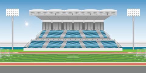 Sport stadium grandstand to cheering sport .