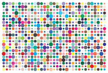 Vector color palette. 726 different colors chaotically scattered.