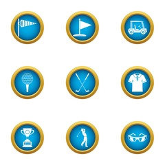 Best punch icons set. Flat set of 9 best punch vector icons for web isolated on white background