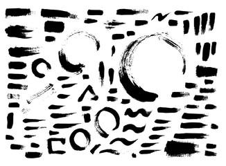 Set of brush illustration Hand drawn Sketch line vector eps10