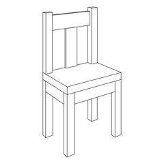 Chair. Outline element
