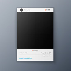 Social network photo frame template