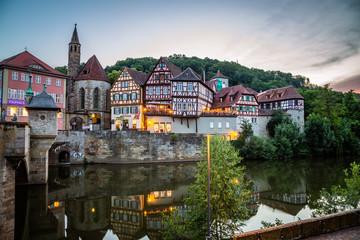 Altstadt von Schwäbisch Hall in Schwaben Hohenlohe