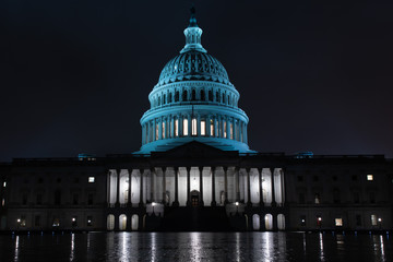 Wall Mural - dc capitol at night in washington usa