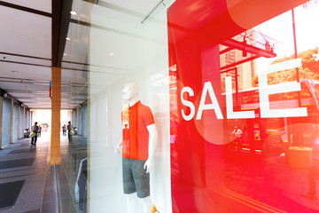Sign of sale shopping