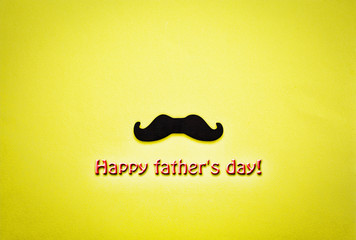 Father's day concept. minimalism. moustache, Hipster, funny, holiday symbol, greeting card