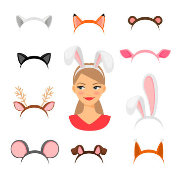 Girls animals ears costume
