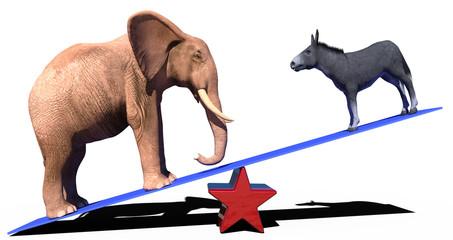 republican democrat election political scale