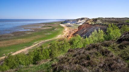 Naturschutzgebiet Morsum Kliff auf Sylt im Frühling wolkenlos HD Format