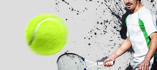 Composite image of tennisman