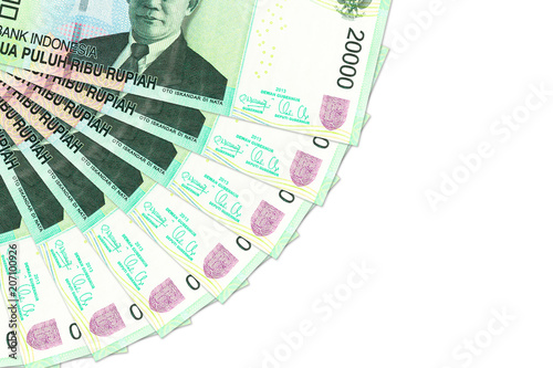 500 indonesian rupiah coin against 20000 indonesian rupiah