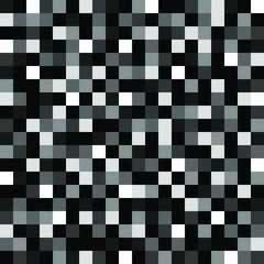 Seamless geometric pixel noise black gray white pattern vector illustration