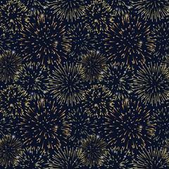 花火柄 シームレスパターン背景素材