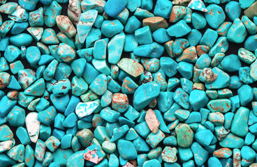 Turquoise mineral raw background, beautiful blue calaite stone texture