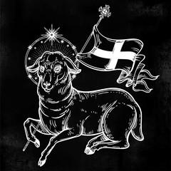 Lamb of God Christian Symbol.