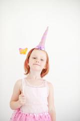 The girl in the unicorn costume