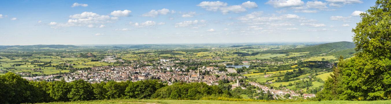 Autun, Bourgogne et Morvan, panorama, France