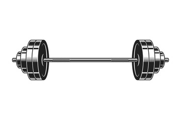 Vintage barbell for bodybuilding icon