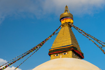 Boudhanath stupa, landmark of Kathmandu city, Nepal