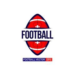 Football Logo Vector Template Design Illustration