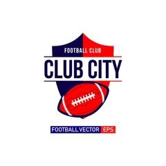 City Football Logo Vector Template Design Illustration