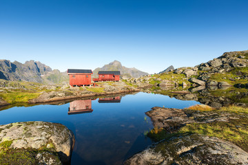 Munkebu mountain in Lofoten, Norway