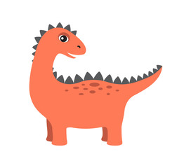 Dinosaur with Lots of Spikes Vector Illustration