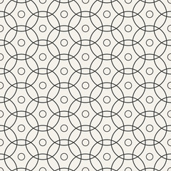 Seamless pattern with intersecting circles.